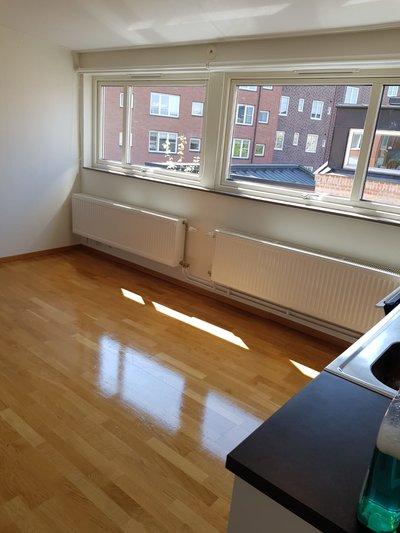 Bild på golv efter Städfirman Malmö Städ har varit på besök