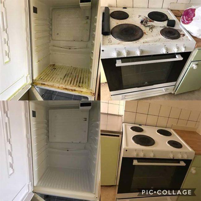 Kök före och efter storstädning